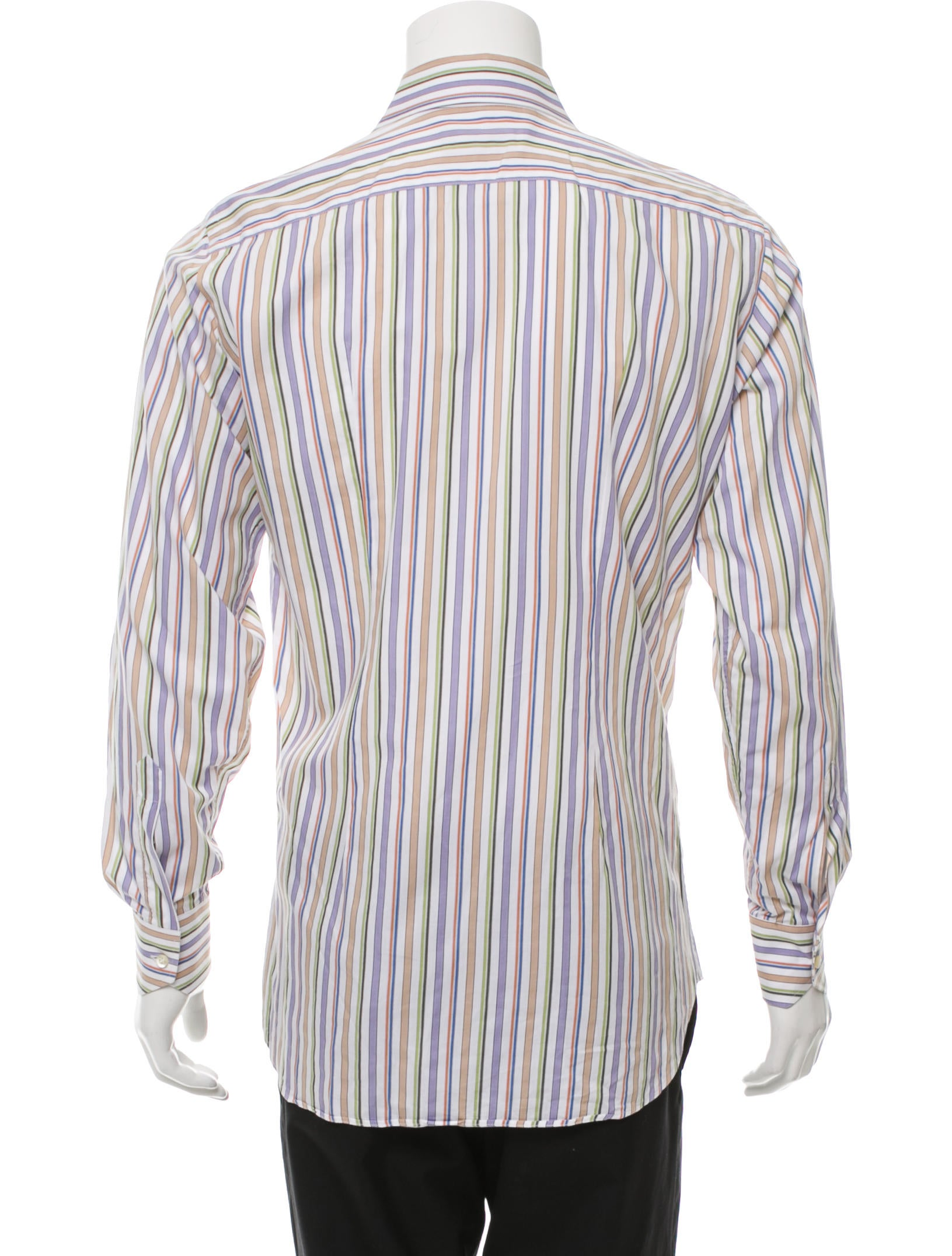 Etro striped button up shirt clothing etr46839 the for Striped button up shirt mens