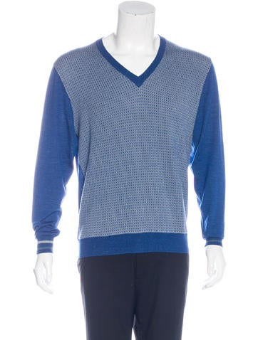 Etro Patterned V-Neck Sweater None