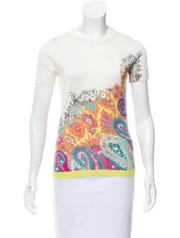 Etro Patterned Silk Top None