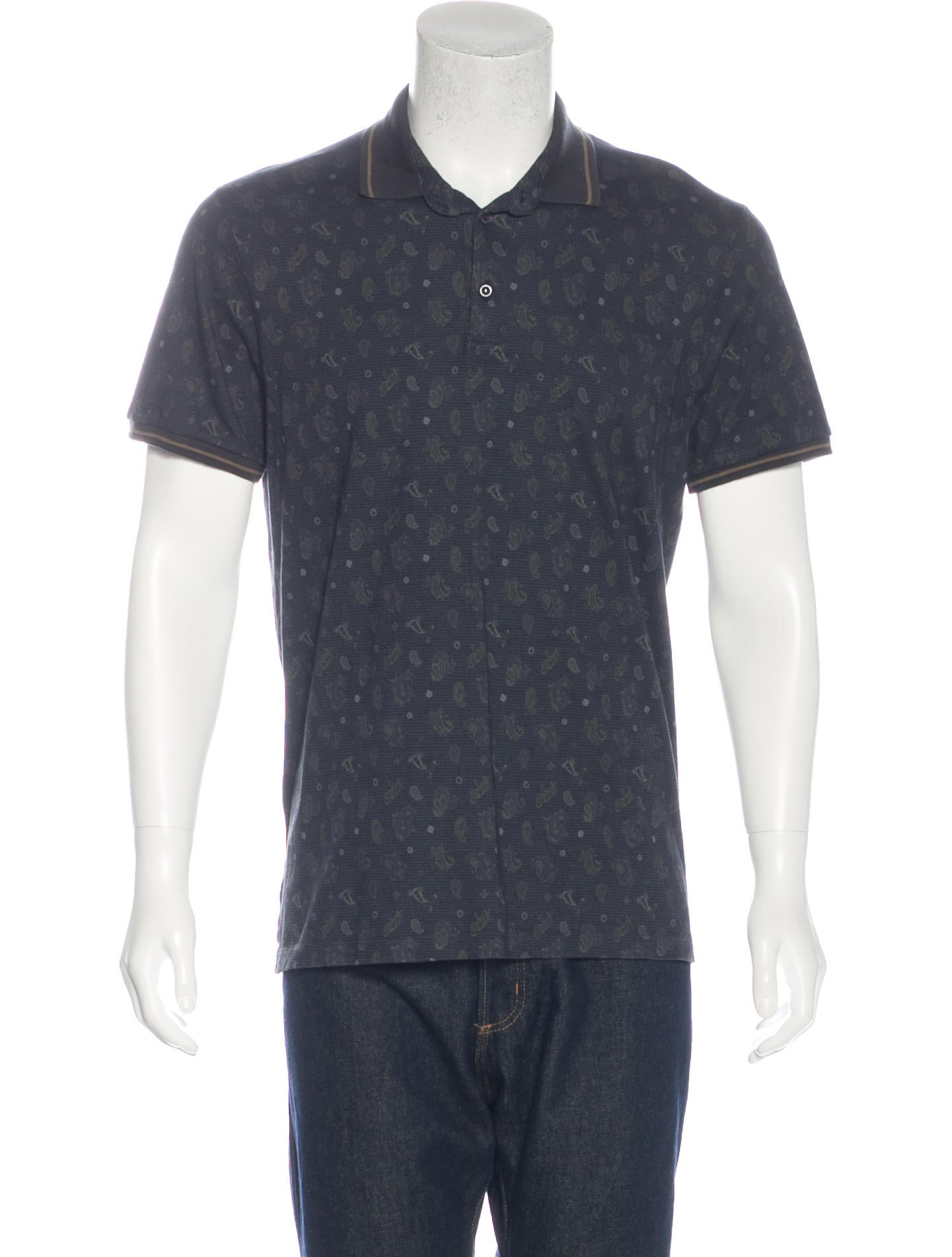 Etro paisley print polo shirt clothing etr47333 the for Etro men s shirts
