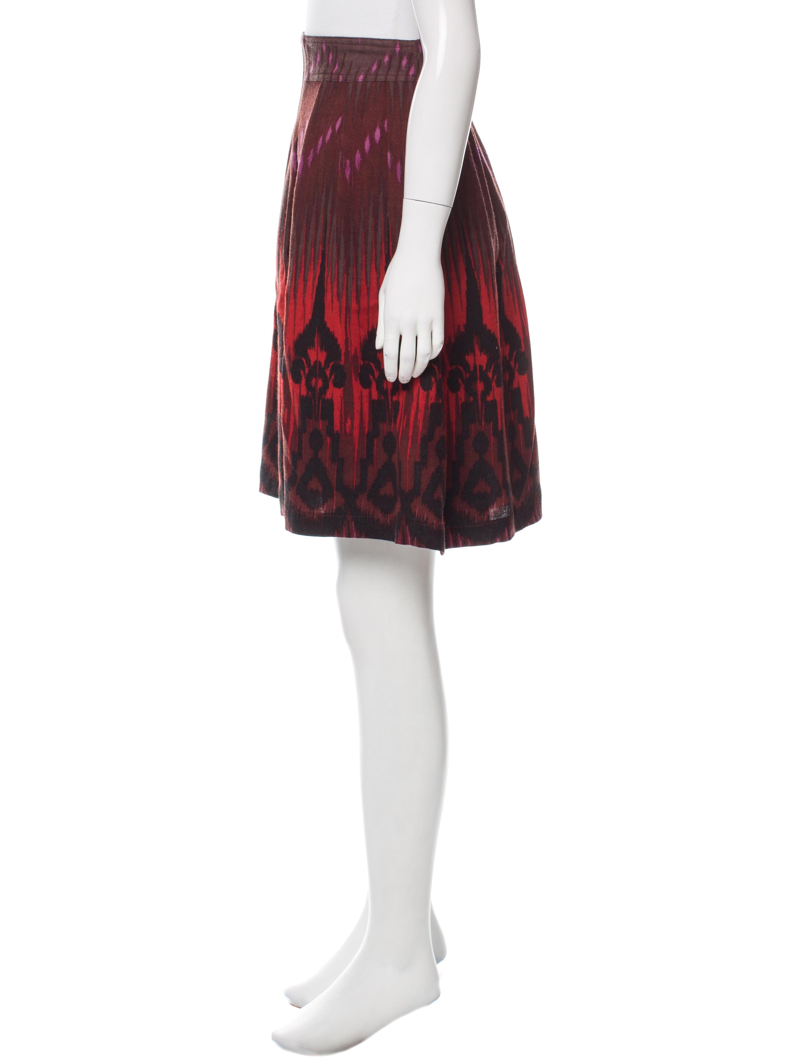 etro knee length wool skirt clothing etr47468 the