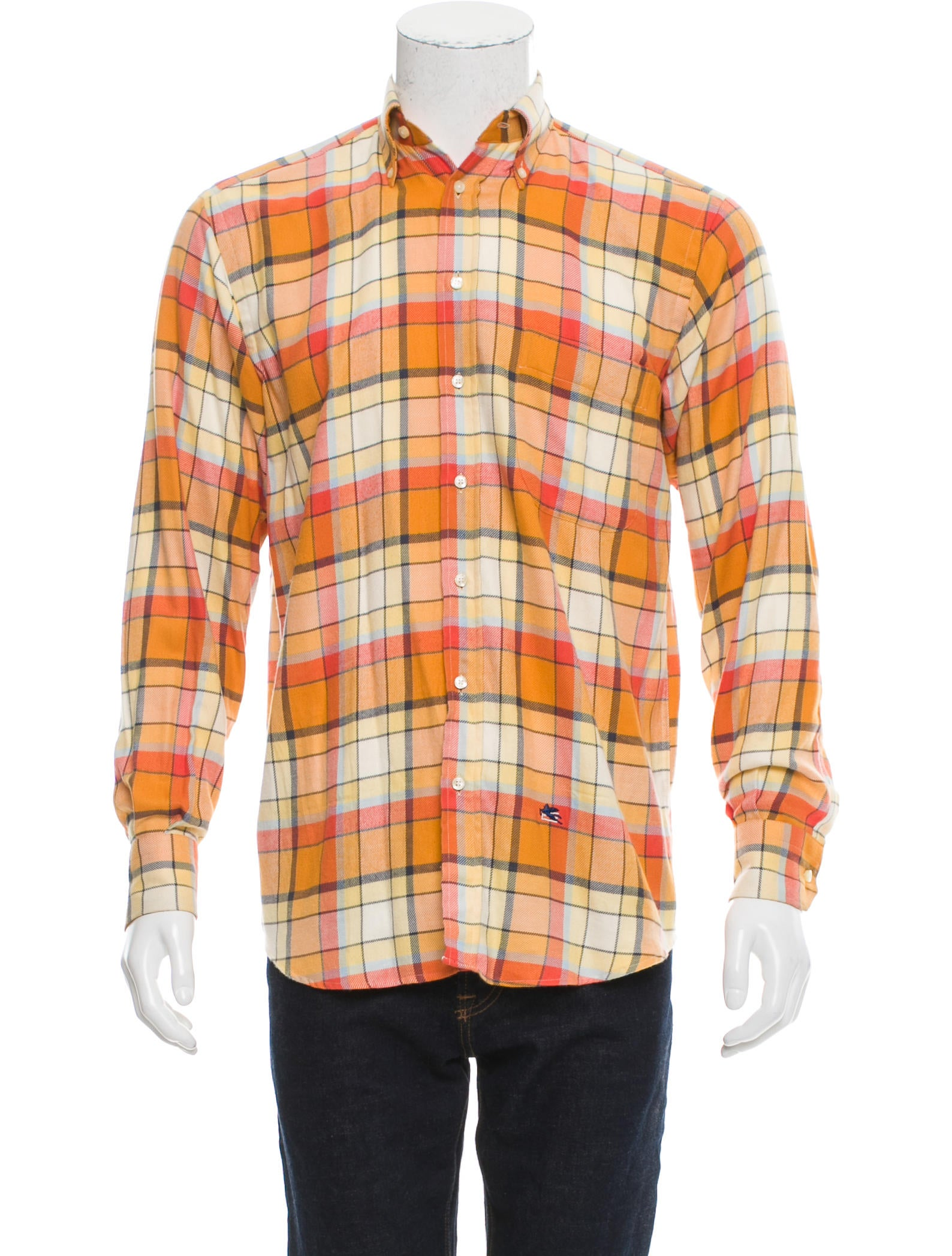 Etro plaid button up flannel clothing etr47645 the for Button up flannel shirts