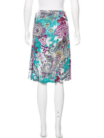 etro jersey knee length skirt clothing etr47775 the