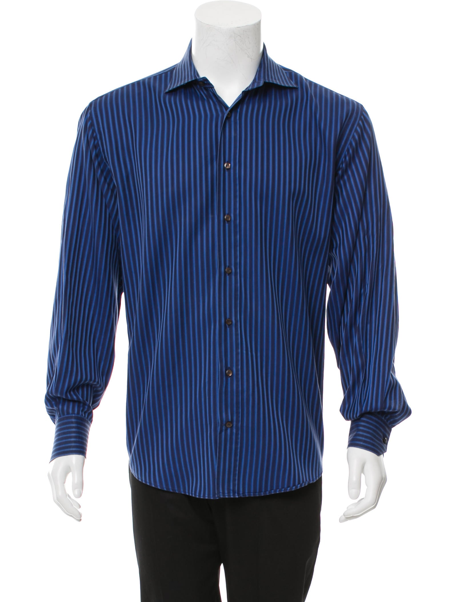 Etro striped button up shirt clothing etr47798 the for Striped button up shirt mens