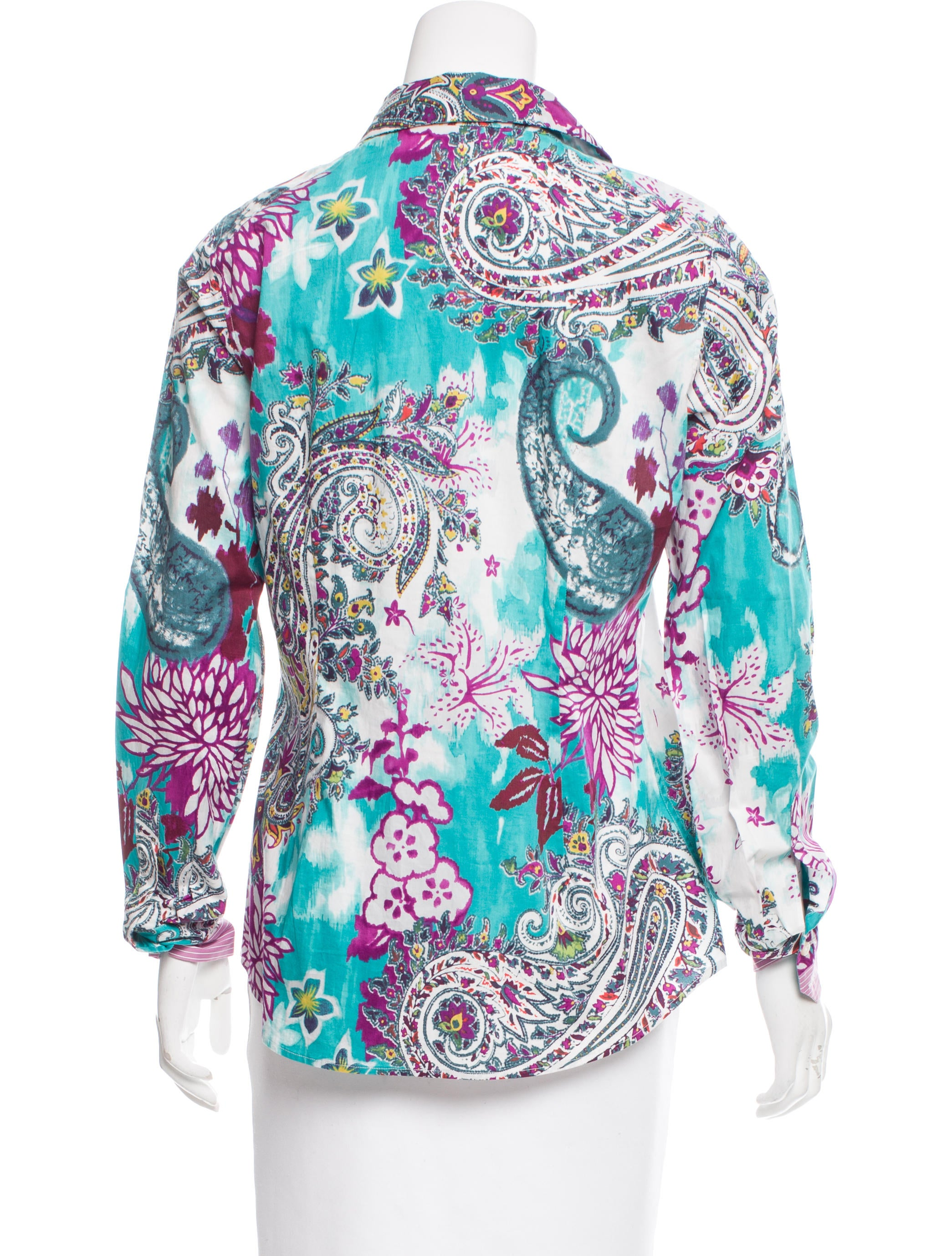 Etro floral print button up shirt clothing etr47831 for Floral print button up shirt