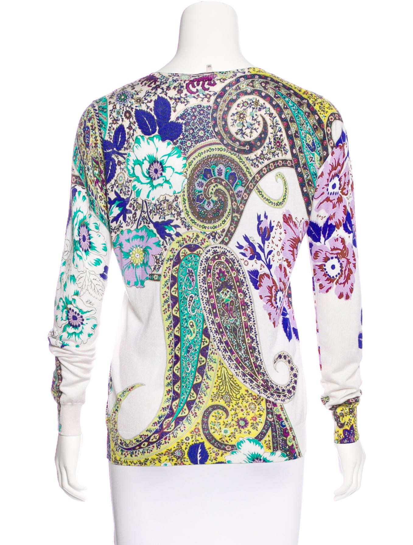 Etro Silk Paisley Print Sweater Clothing Etr48087