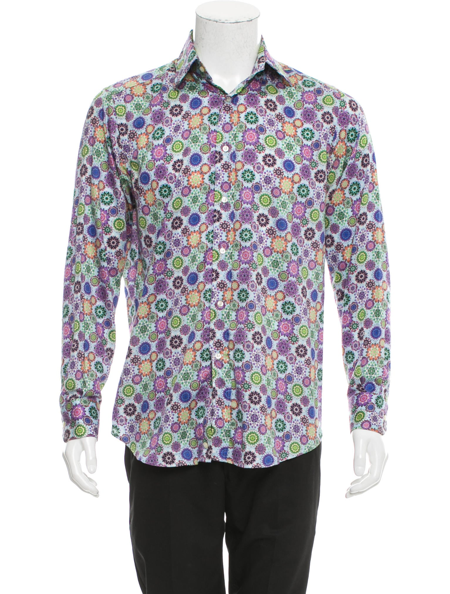 Etro floral print button up shirt clothing etr48106 for Floral print button up shirt