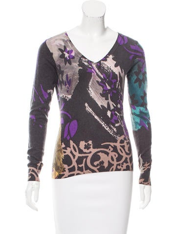 Etro Printed Knit Sweater None