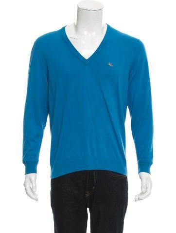 Etro Logo V-Neck Sweater None