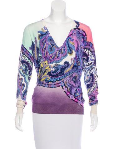 Etro Silk Printed Sweater None
