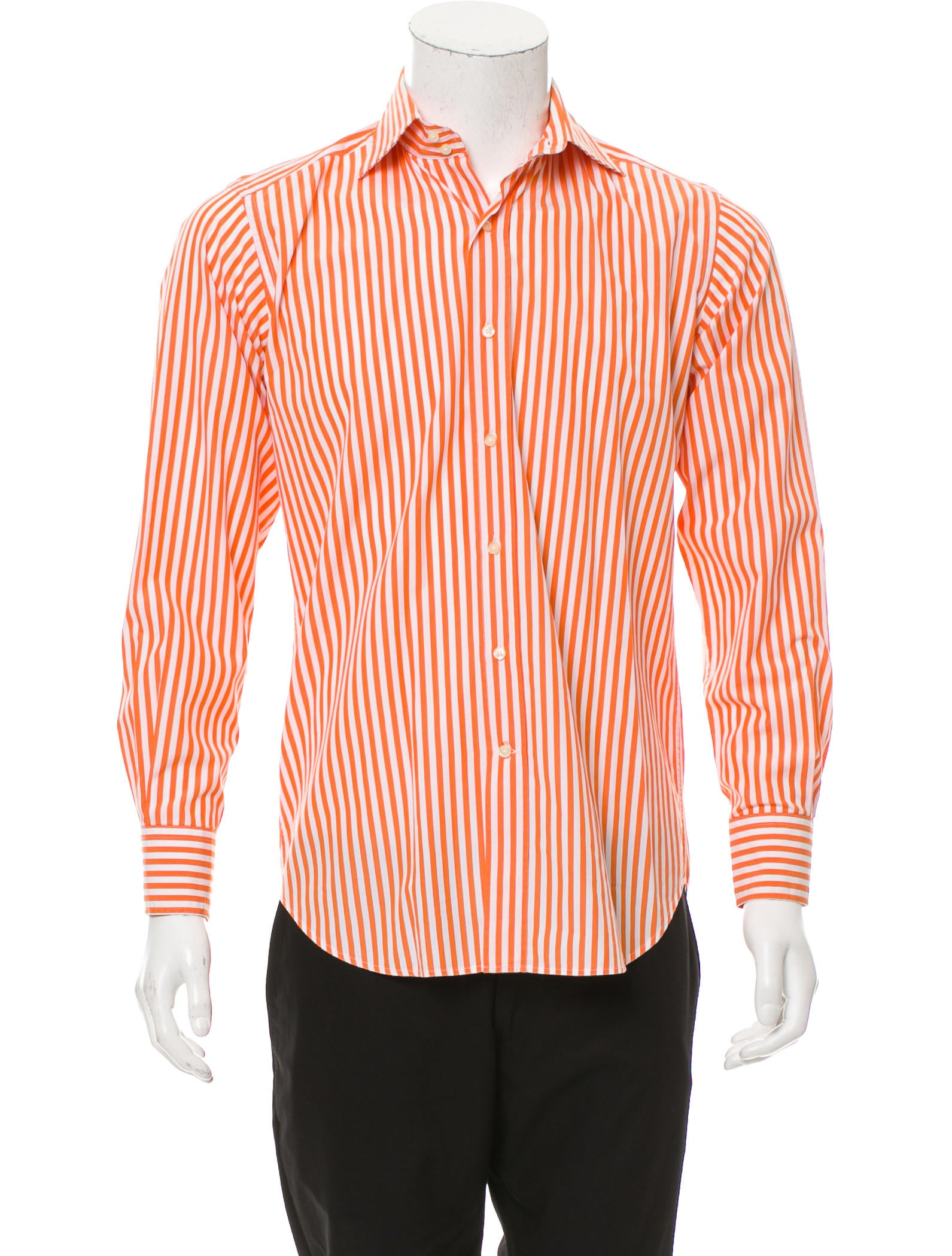 Etro striped button up shirt clothing etr48929 the for Striped button up shirt mens