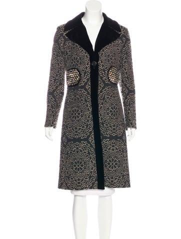 Etro Wool-Blend Embellished Coat None
