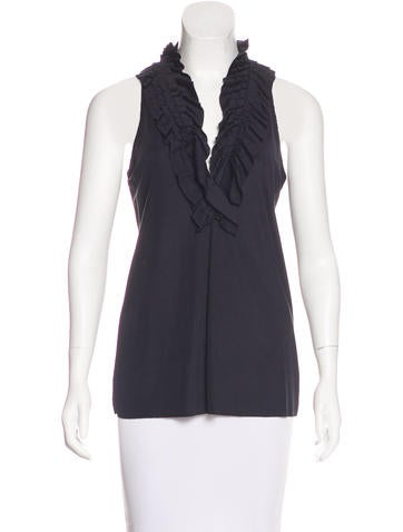 Etro Ruffle-Trimmed Sleeveless Top None