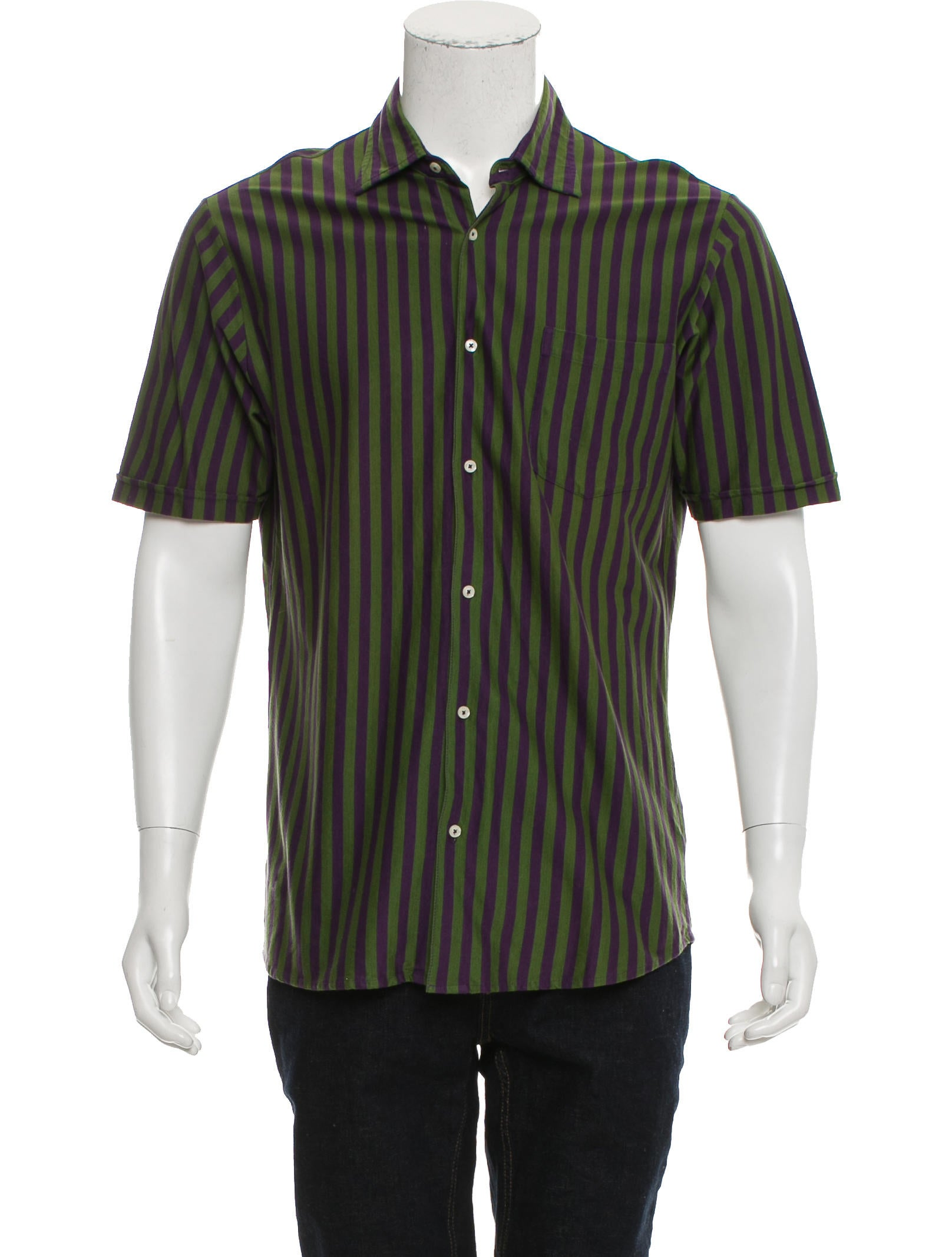 Etro striped button up shirt clothing etr49508 the for Striped button up shirt mens