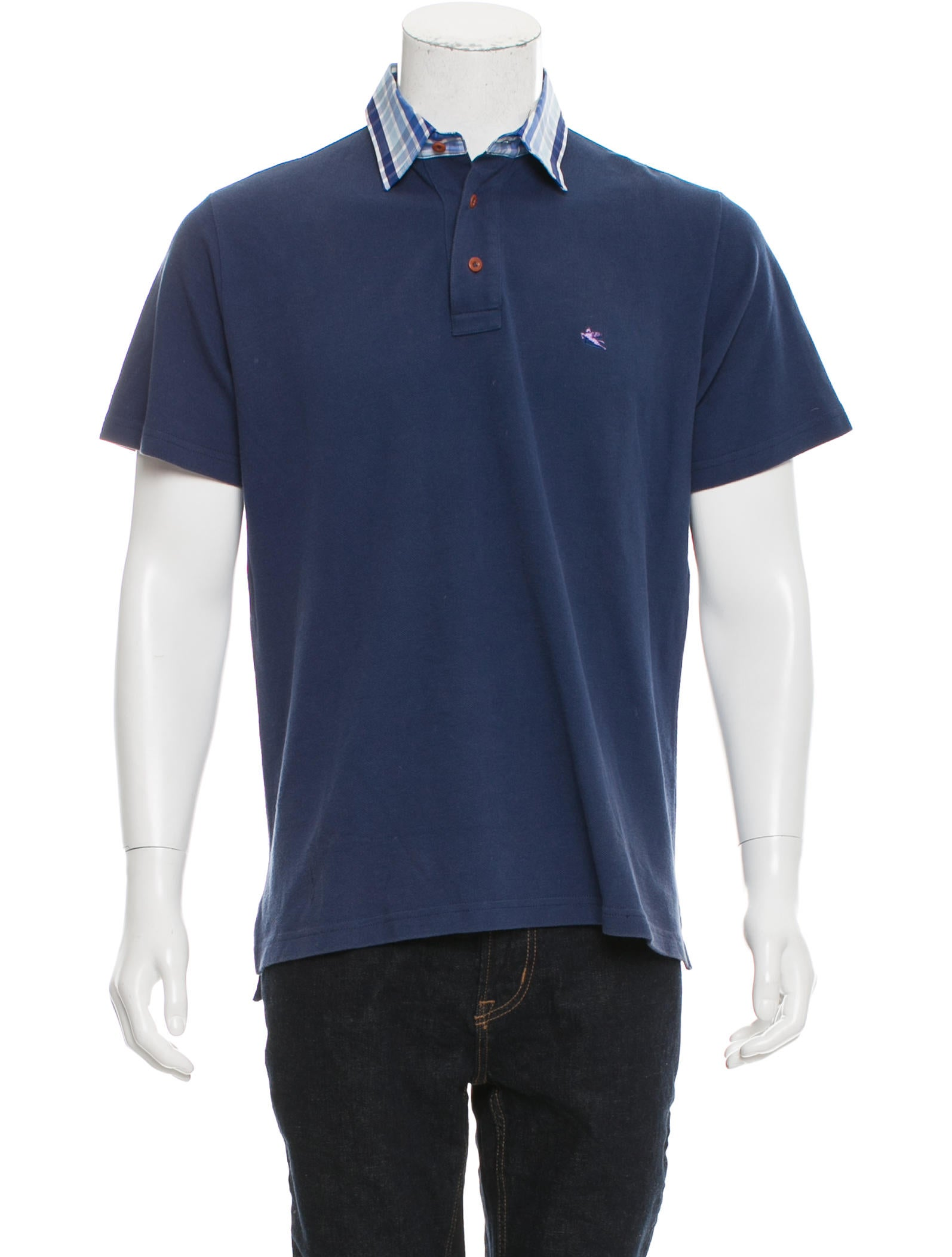Etro logo embroidered polo shirt clothing etr49799 for Polo shirts with logos