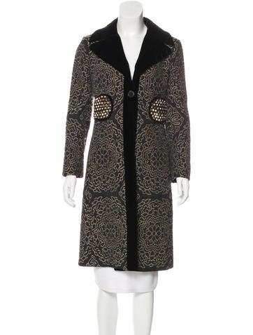 Etro Embellished Long Coat None