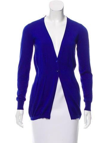 Etro Long Sleeve Silk Cardigan None