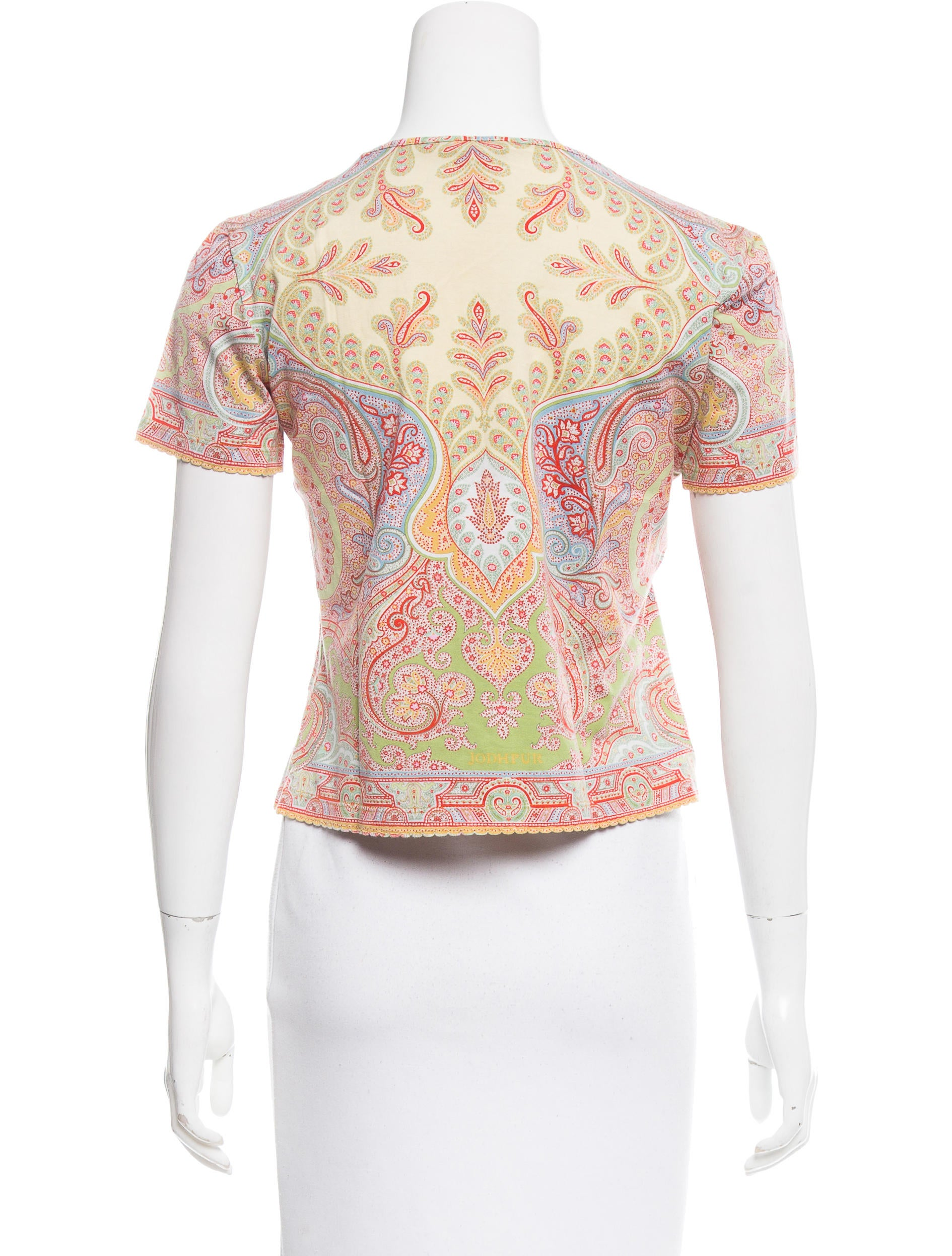 Etro printed crew neck t shirt clothing etr49965 the for Collar t shirt printing