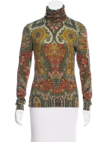 Etro Paisley Wool Long Sleeve Top None