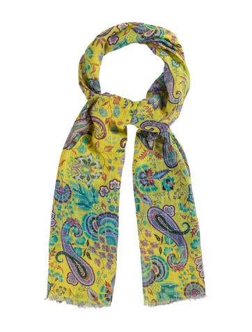 Etro Paisley Silk-Blend Scarf None
