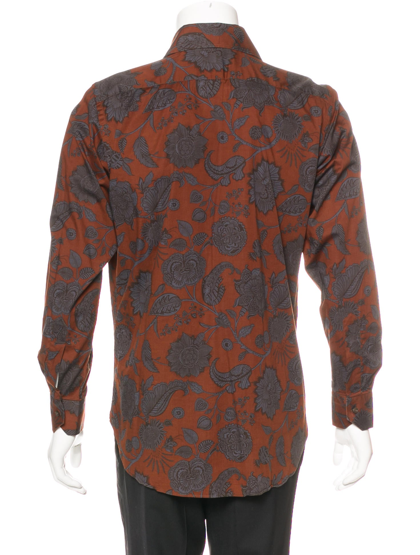 Etro floral print button up shirt clothing etr50286 for Floral print button up shirt
