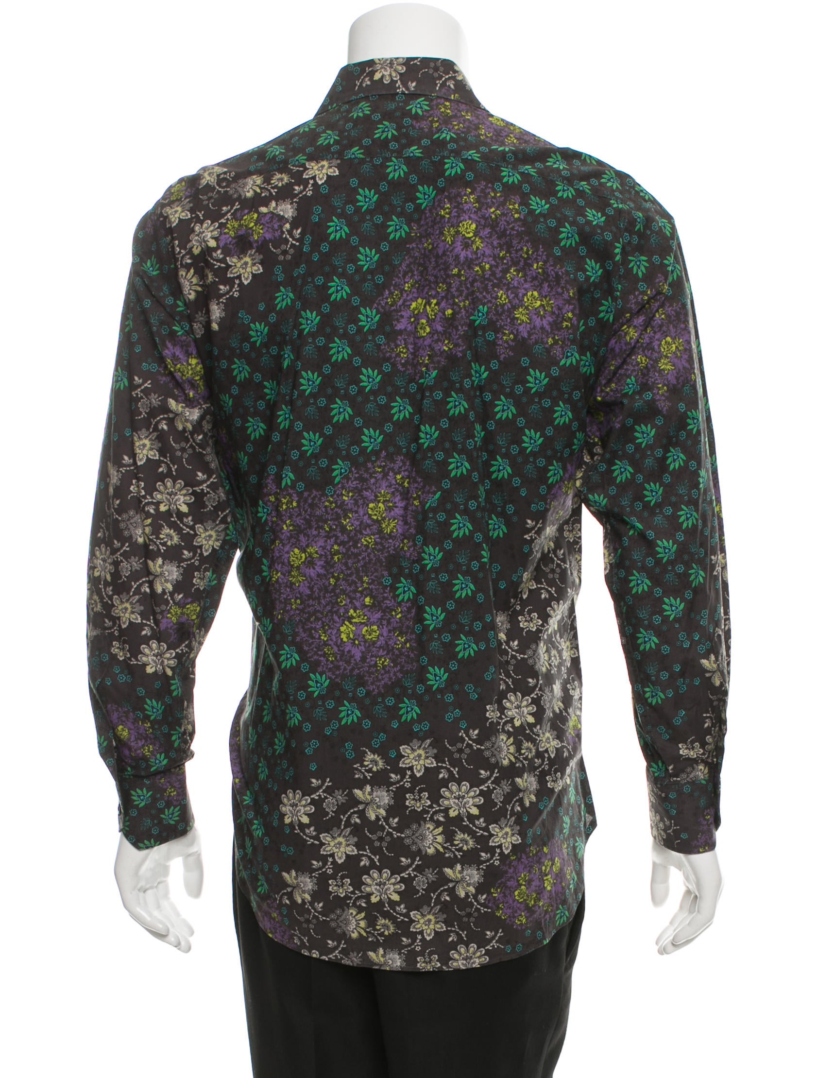 Etro floral print button up shirt clothing etr50291 for Floral print button up shirt