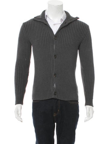 Etro Rib Knit Wool Cardigan None