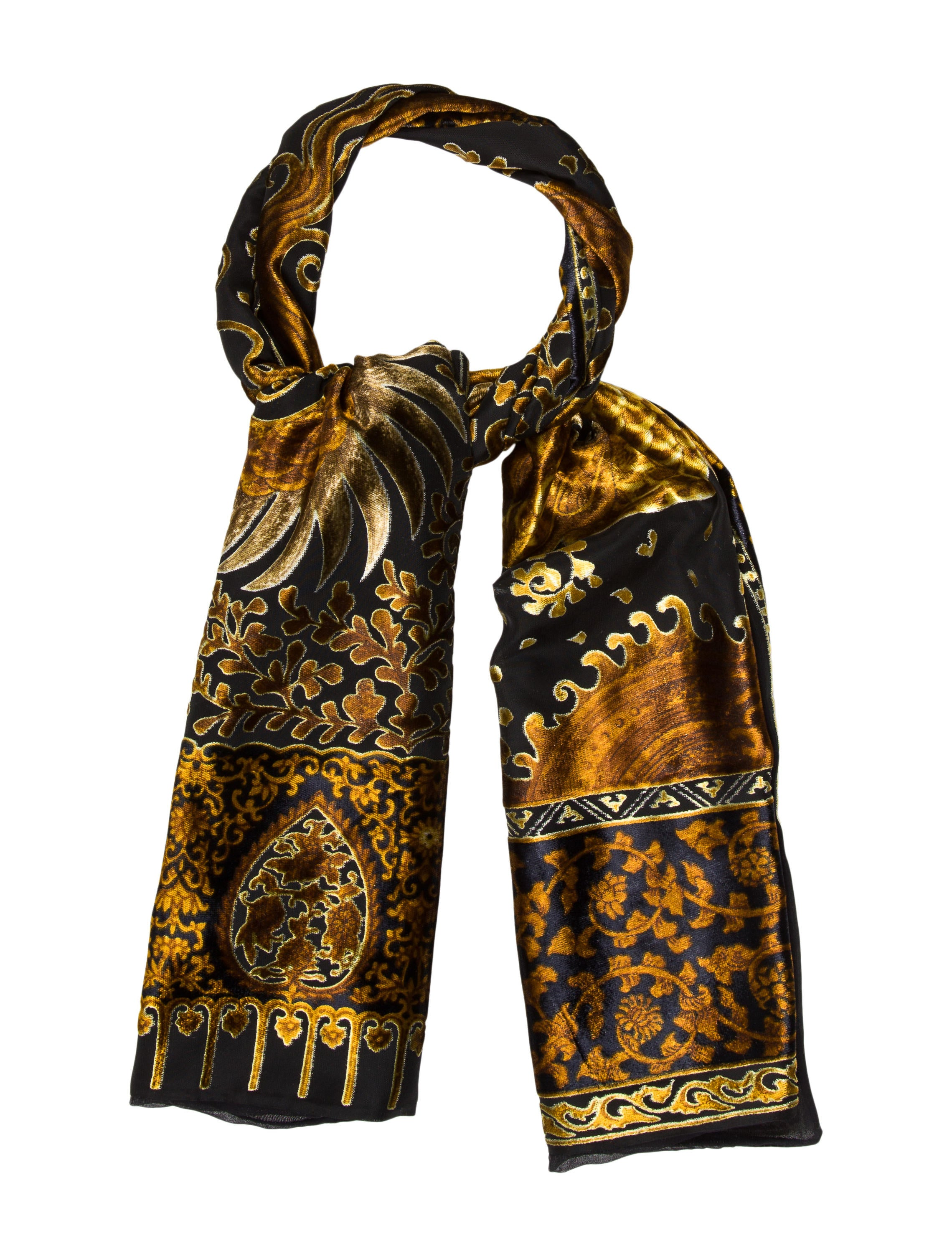 etro silk velvet scarf w tags accessories etr50777