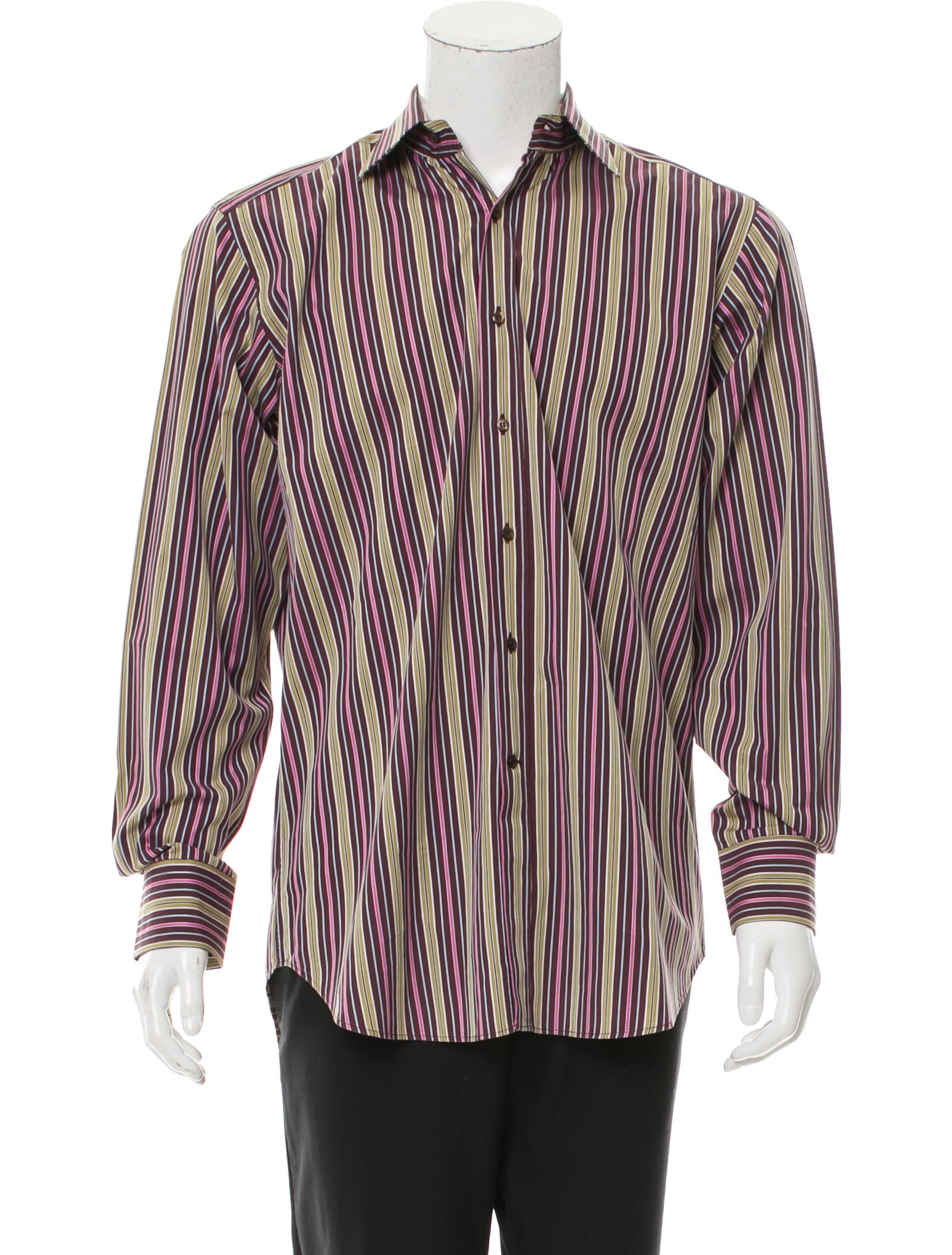Etro striped button up shirt clothing etr50791 the for Striped button up shirt mens