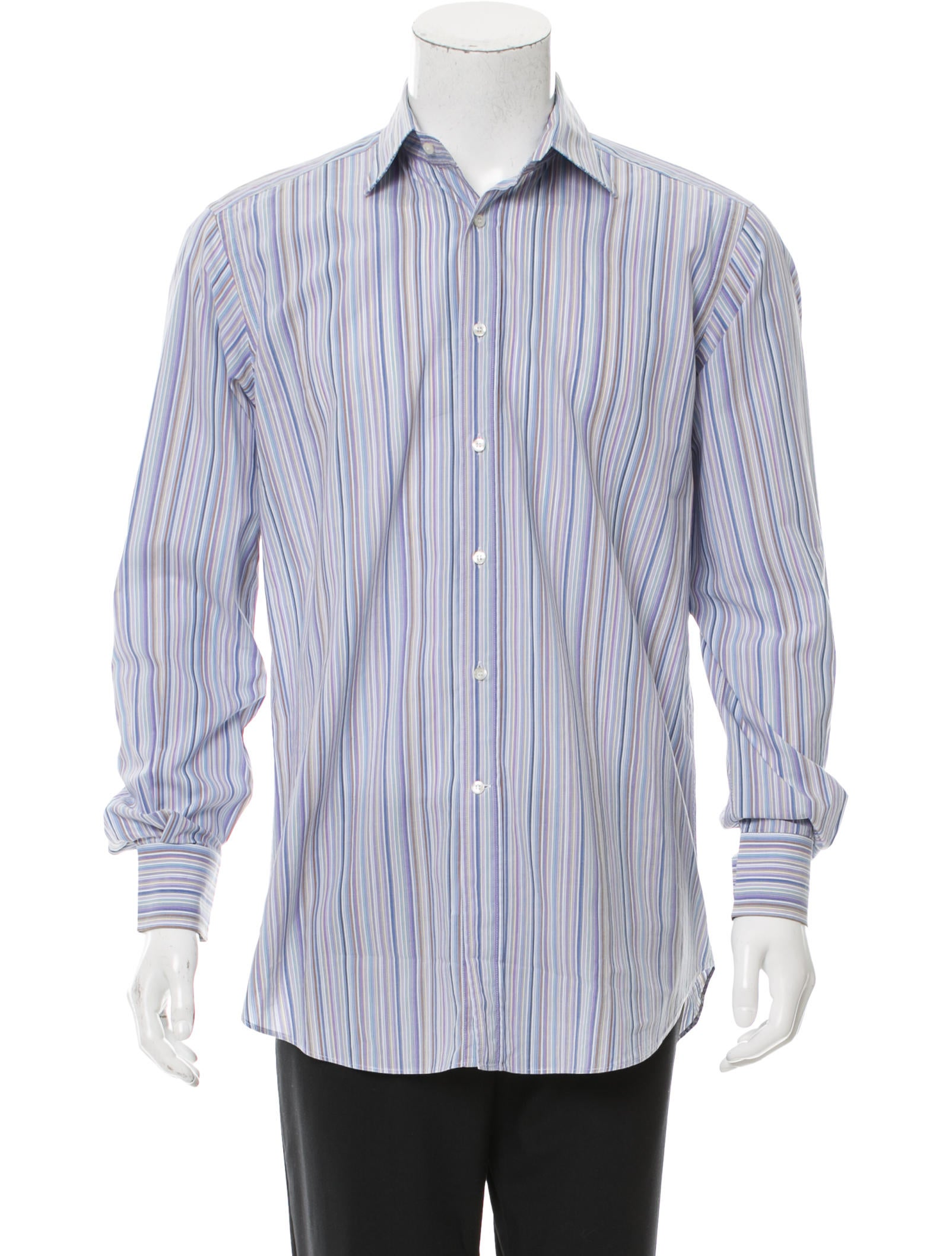 Etro striped button up shirt clothing etr50792 the for Striped button up shirt mens