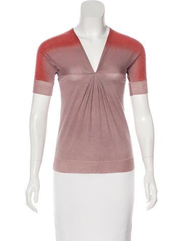 Etro Cashmere & Silk Short Sleeve Top None