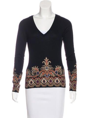 Etro Silk & Cashmere Sweater None