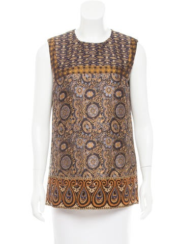 Etro Embellished Jacquard Top w/ Tags None