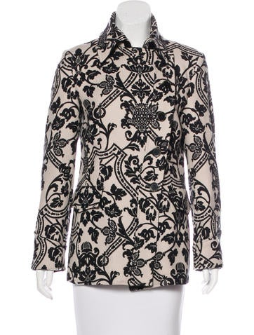 Etro Wool Patterned Coat None