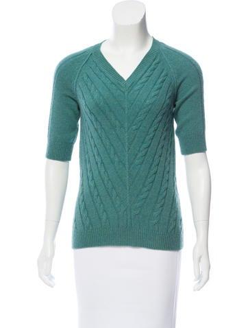 Etro Cashmere Cable Knit Sweater None