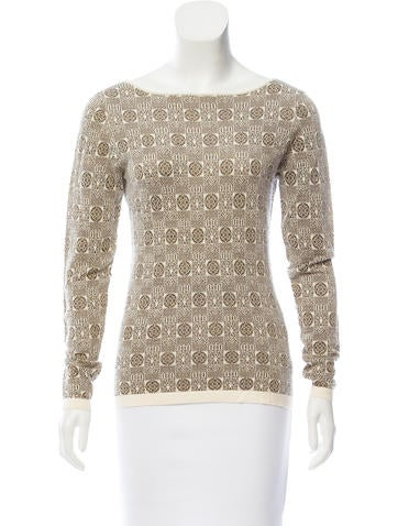Etro Metallic Rib Knit Sweater None