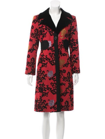 Etro Patterned Knee-Length Coat None