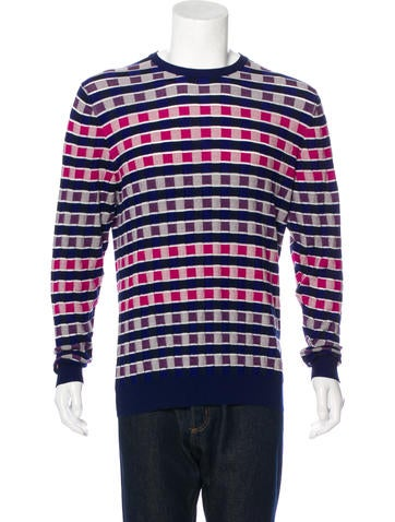 Etro Patterned Crew Neck Sweater None
