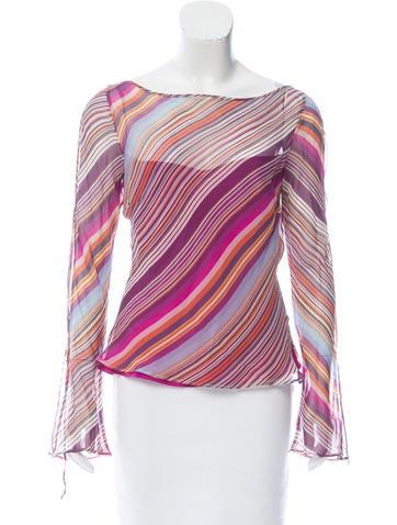 Etro Silk Long Sleeve Top None