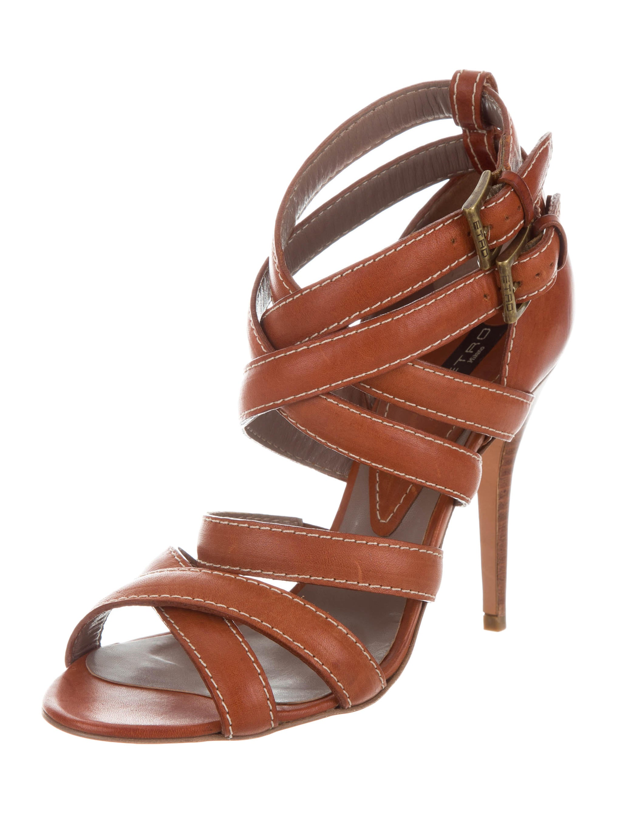 outlet with paypal order online Etro Leather Multistrap Sandals best cheap price klsuHqh6bJ