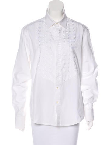 Etro Embroidered Button-Up Top None
