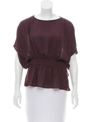 Silk Draped Blouse w/ Tags