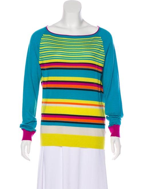 Etro Striped Knit Sweater Blue