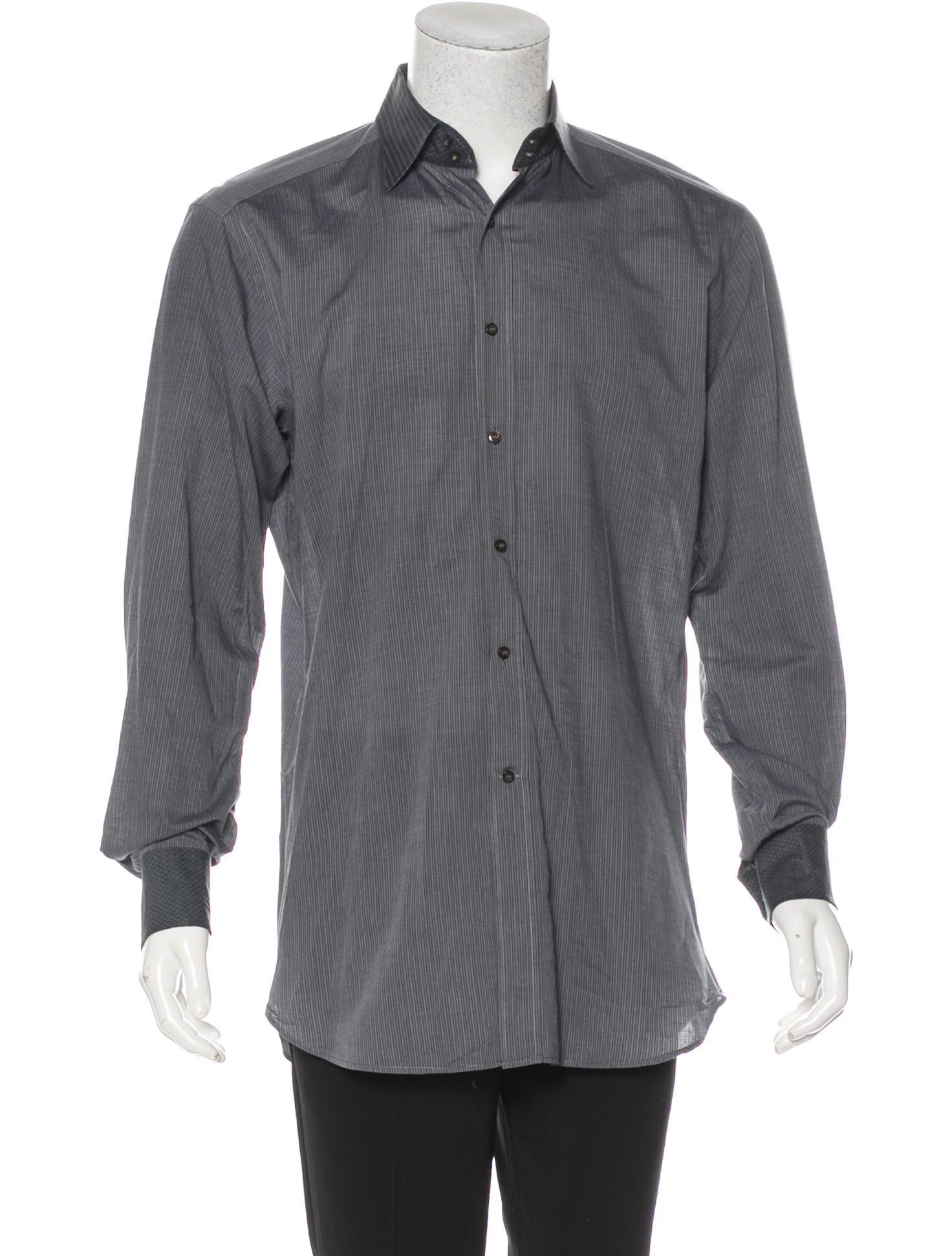Etro Striped Dress Shirt Mens Shirts Etr59158 The Realreal