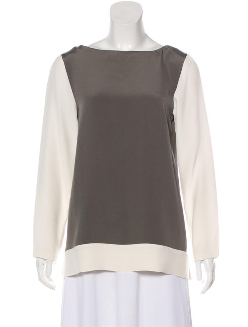Etro Silk Long Sleeve Blouse Brown