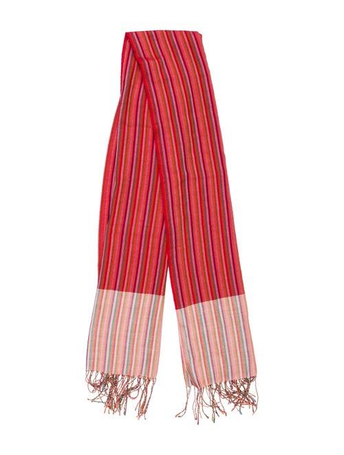 Etro Wool-Silk Blend Scarf Red