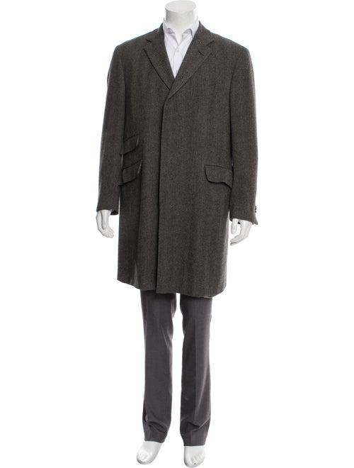 Etro Camel Herringbone Coat grey