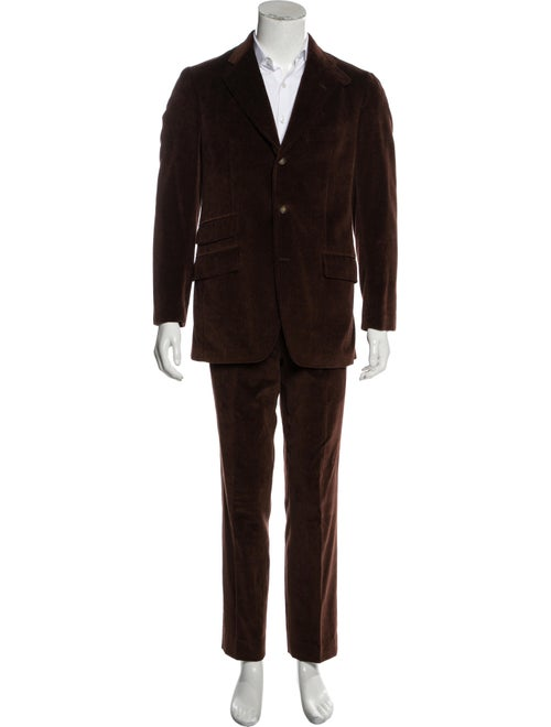 Etro Corduroy Two-Piece Suit brown