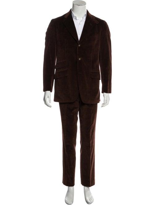 Etro Corduroy Two-Piece Suit brown - image 1