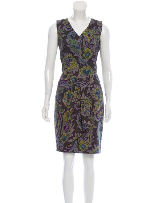 Etro Sleeveless Wool Dress Green